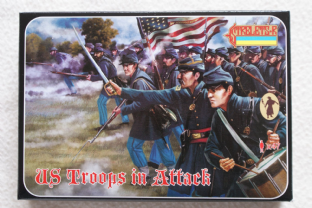 Strelets 1/72 ST0150 Union Infantry In Attack Set 1 (ACW)